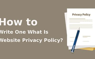 How to Write One What Is a Website Privacy Policy?