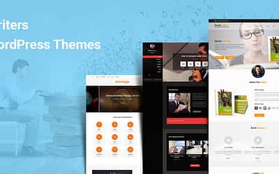 Top 15 Writers WordPress Themes for Author Content Bloggers Agencies