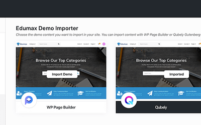 Edumax Theme Updated with New Gutenberg Based Demo Option Powered By Qubely