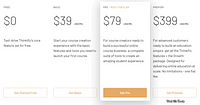 Thinkific Pricing Plans Design of the Day – 30-04-2020