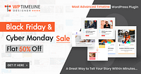 FLAT 50% OFF – WP Timeline Designer Pro WordPress Plugin
