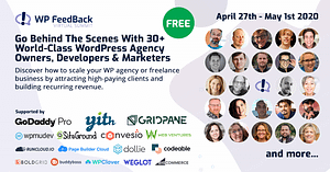 The Free WP Feedback Virtual Summit is Happening this Weekend