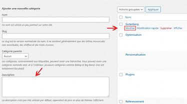 Comment afficher les descriptions des catégories dans WordPress