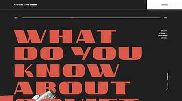 16 Examples of Large Typography in Web Design
