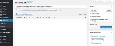 Custom Role To Allow Users To Submit WooCommerce Products For Review