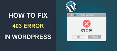 How to Fix 403 Error in WordPress