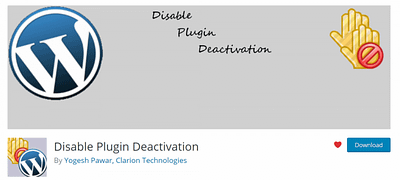 Using the Disable Plugin Deactivation Plugin on Your Child Sites