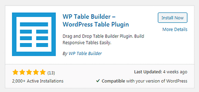 How to Add Tables in WordPress Using WP Table Builder