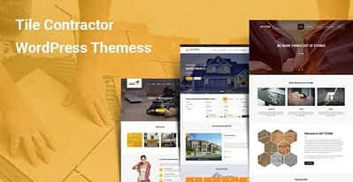 6 Tile Contractor WordPress Themes for Flooring Roofing Interior Design
