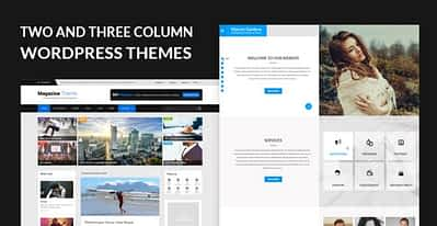 Two and Three Column Responsive WordPress Themes for Column Based Websites