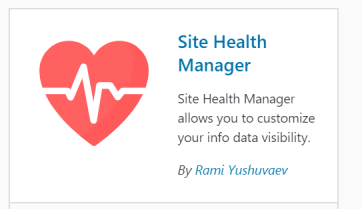 Disable the MainWP Child plugin from Showing the Site Health Info