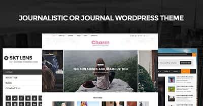 Journalistic or journal WordPress theme for having journal style websites