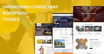 Engineering Consultant WordPress Themes for Project Management Websites