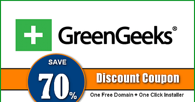 How to grab GreenGeeks Coupon Code to Get a 70% Discount and One Free Domain?