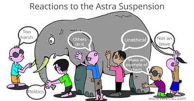 Reactions to the Astra Suspension