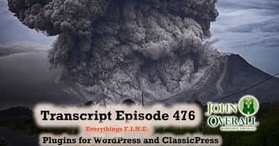 Transcript of Episode 476 WP Plugins A to Z