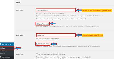 WordPress Giden E-Posta Gönderen Adı Nasıl Değiştirilir?