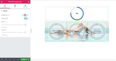 Stratum Widgets: The Circle Progress Bar And Counter Elementor Widgets