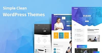 13 Best Simple Clean WordPress Themes for Your Next Projects