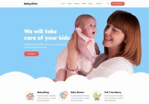 BabySitter Lite Teması Ücretsiz WordPress Çocuk Mağazası Teması