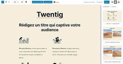 Twentig pour customiser le thème WordPress par défaut Twenty Twenty