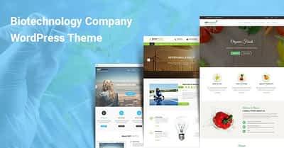 Biotechnology Company WordPress Themes for Bio Medical Pharma Industries