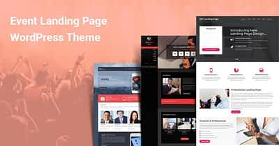 Event Landing Page WordPress Themes for Events Planning Management