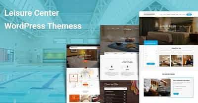 Leisure Center WordPress Themes for Hotels Travel Vacation Spa Salon