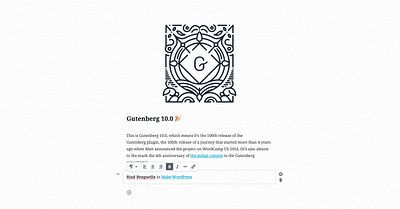 Reflecting on Gutenberg's 100th Release