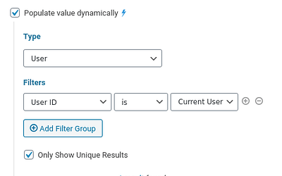 How To Populate Data Based on the Current User