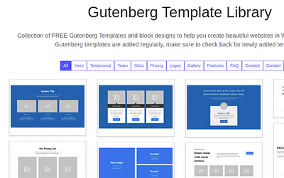 Gutenberg Hub Introduces the Library of 100 Block Templates