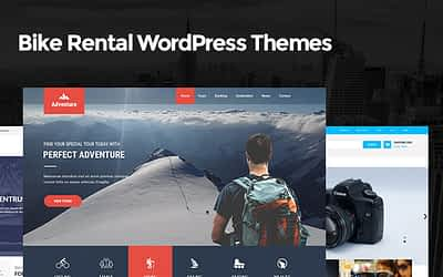 Bike Rental WordPress Themes for Bike and Car Rental Websites