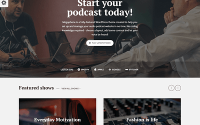 10 Best WordPress Podcast Themes to Grow your Brand 2020