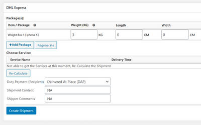 How to Resolve Global Product Code Error while creating DHL Express Shipment Label in WooCommerce