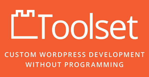toolset logo tag line white WordPress 5.3.1 RC 2