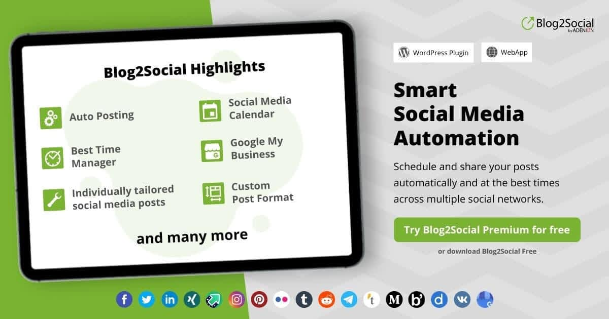 Blog2Social 1 Deals and coupons